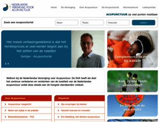 acupunctuur.nl screenshot
