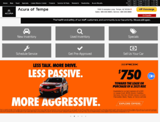 acuraoftempe.com screenshot