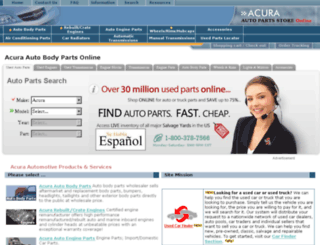 acuraparts4less.com screenshot