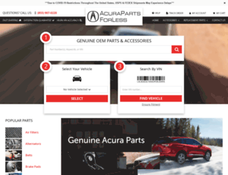 acurapartsforless.com screenshot