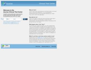 acuriantrials.com screenshot