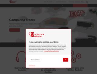 acusticamedica.pt screenshot