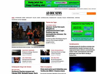 ad-hoc-news.de screenshot
