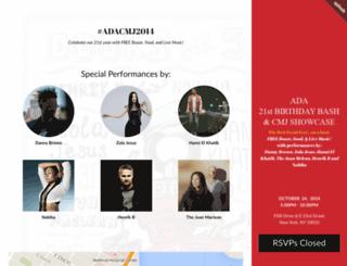adacmj2014.splashthat.com screenshot