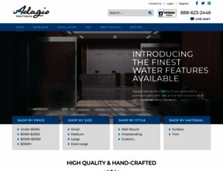adagiowaterfeatures.com screenshot
