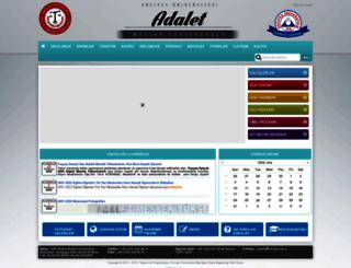 adalet.erciyes.edu.tr screenshot