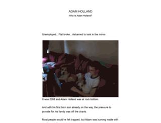 adam-holland.com screenshot