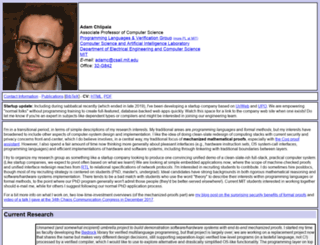 adam.chlipala.net screenshot