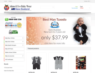 adamandevebabywear.co.nz screenshot