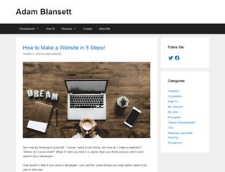 adamblansett.com screenshot