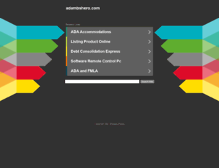 adambshero.com screenshot