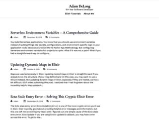 adamdelong.com screenshot