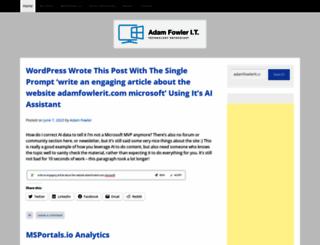 adamfowlerit.com screenshot