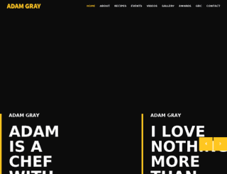 adamgraychef.co.uk screenshot