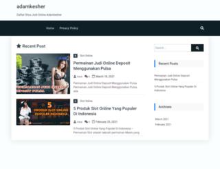 adamkesher.com screenshot