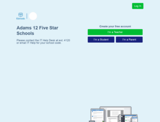 adams12.edmodo.com screenshot