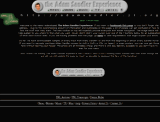 adamsandler.jt.org screenshot