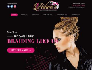 adamshairbraiding.com screenshot