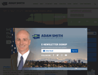 adamsmith.house.gov screenshot