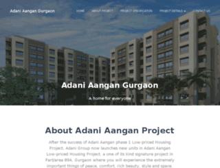 adaniaangangurgaon.in screenshot