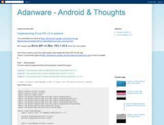 adanware.blogspot.com screenshot