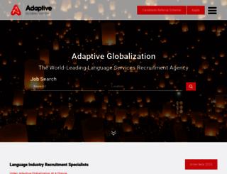 adaptiveglobalization.co.uk screenshot