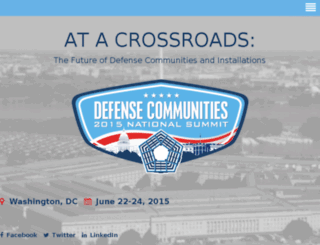 adcsummit15.defensecommunities.org screenshot