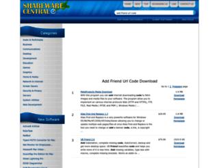 add-friend-url-code.sharewarecentral.com screenshot