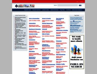 addfreewebdirectory.com screenshot