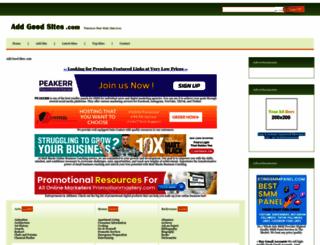 addgoodsites.com screenshot