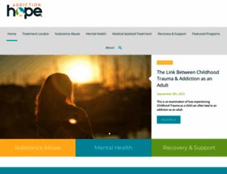addictionhope.com screenshot