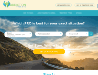 addictionpros.customerdemourl.com screenshot
