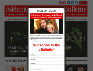 addictionrecoveryebulletin.org screenshot
