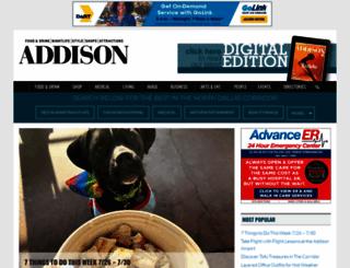 addisonmagazine.com screenshot