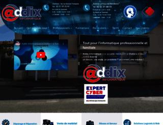 addix-informatique.com screenshot