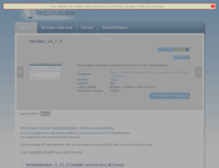addons.websitebaker.org screenshot