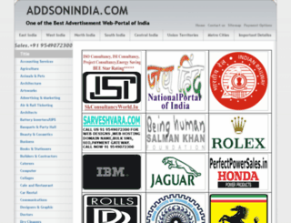 addsonindia.com screenshot