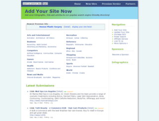 addyoursitefreesubmit.com screenshot