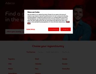 adecco.com screenshot
