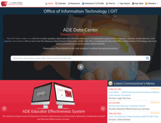 adedata.arkansas.gov screenshot