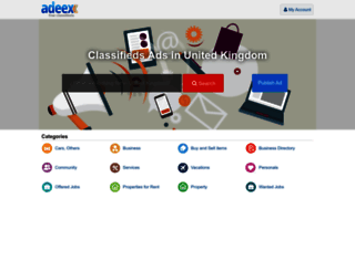 adeex.co.uk screenshot