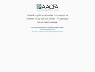 adelaideagedcarefinancialadvisers.com.au screenshot
