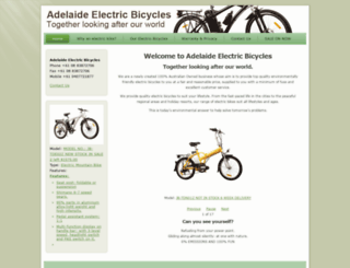 adelaideelectricbicycles.com.au screenshot