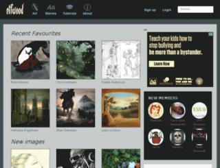 adele.elfwood.com screenshot