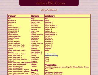 adelescorner.org screenshot