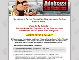 adelgazasinmentiras.com screenshot