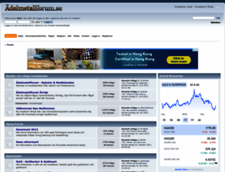 adelmetallforum.se screenshot