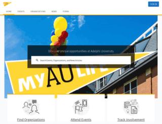 adelphi.collegiatelink.net screenshot