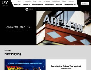 adelphitheatre.co.uk screenshot