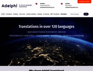 adelphitranslations.com screenshot